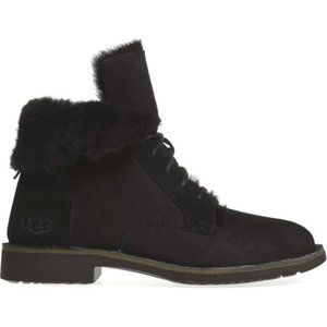 Ugg Quincy Boot Black Suede Size 9.5   1012359